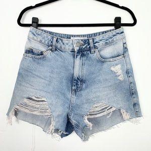 Topshop; Ripped Mom Shorts